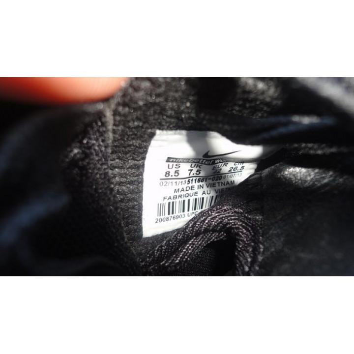 Nike Roshe Run кожа черные супер скидка